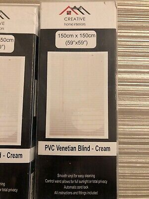 Cream Pvc Blinds Window Venetian Easy Fit Home Office Blind Wood Effect All Size