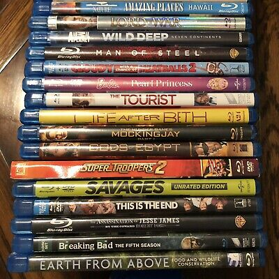 3D, Blu-Ray And DVD Movies In Cases - Must Message Seller Directly With Choice