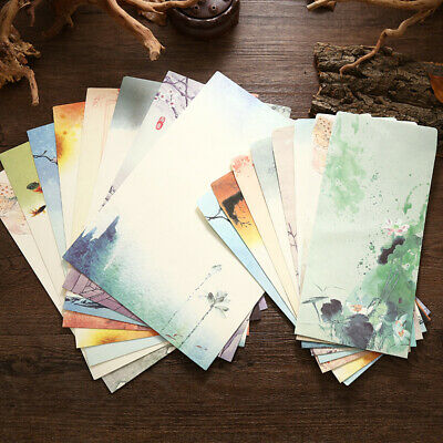 4pcs Chinese Style Writing Paper with 2 Envelop Vintage Letter Paper Stationery