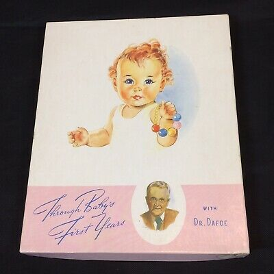 Vtg Baby Book Pink Through Baby's First Years Dr. Dafoe 1942 Scapbook Record USA