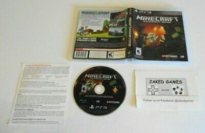 Used Cased Minecraft PlayStation 3 Edition Sony PlayStation 3 Free Shipping!