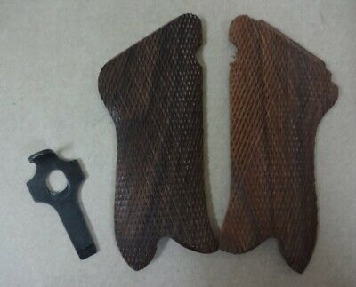 """WW2 German Luger P08 Wood Hand Grips w/ Stripping Take Tool """"Marked"""" Repro PV507"""