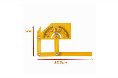 Brick Tile Wood 180 Degree Protractor Angle Finder Arm Rotary Measuring Ruler