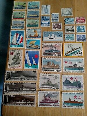 34 Worldwide Ship Stamps