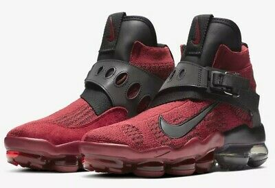 Nike Air Vapormax Premier Flyknit Men's Shoes [Size 10.5] Red/Blk Ao3241-600