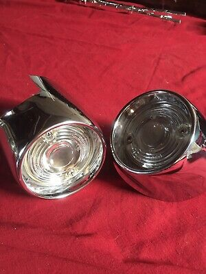1956 1955 55 56 Dodge NOS Pair Of Park Light Turn Light Housings Mopar Lens