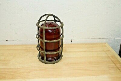 Nautical Explosion Proof Russell & Stoll Industrial Boat Light Fixture. Vintage