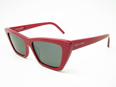 03d0ffb8741 New Authentic Saint Laurent SL 276 Mica 003 Red with Grey SL276 Sunglasses