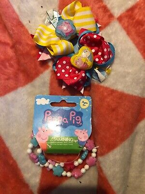 Peppa Pig Bracelets & Hair Slides Freepost (Access1)