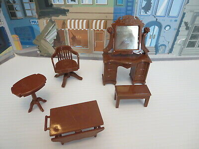 Vintage  Reliable Doll Furniture, Set Dresser Office Chair Tables