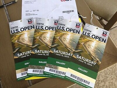 US OPEN GOLF - Pebble Beach 4 Gallery Tickets Saturday 6/15