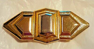 Signed Revcor  Art Deco Belt Buckle 4.5 Inches Long 2 Inches Tall