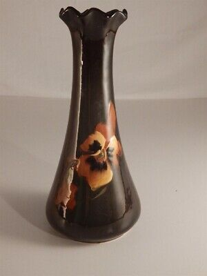 Antique Weller Louwelsa Pottery Vase Hand Painted Decorated Floral Unmarked