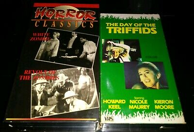 DAY OF THE Triffids / Horror Express VHS Lot Cult Scary