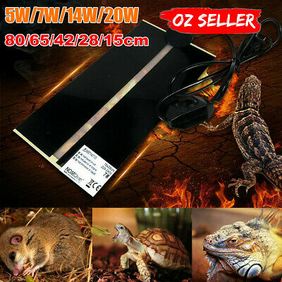 AU Pet Electric Adjustable Heat Pad Reptile Lizard Heating Mat Warmer Blanket