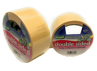 Ultratape Rhino Carpet Tape Double Sided Multi-purpose Strong Heavy Duty - Sizes