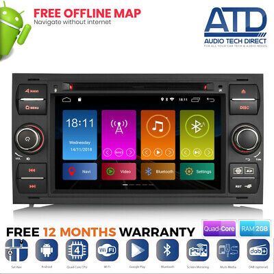 "7 "" Android 8.1 Wifi Navigatore Satellitare GPS DVD Radio per Ford Connect Kuga"