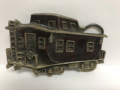 Great American Buckle Co. Limited Edition #271 Red Enamel Caboose Belt Buckle