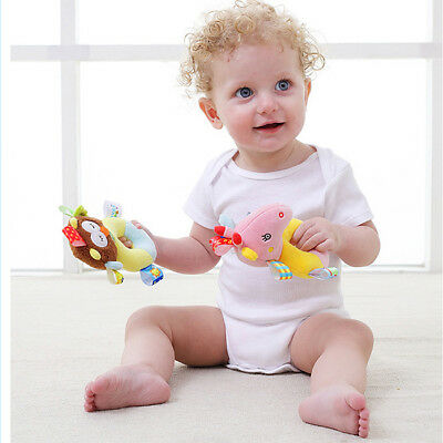 Baby Cute Animal Rattle Ring Bell Newborn Hand Grasp Toys Appease Doll Toy WE