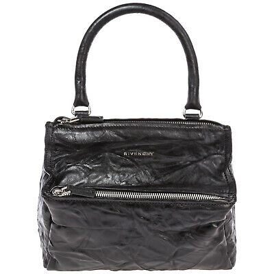 Givenchy Women's Leather Handbag Shopping Bag Purse New Pandora Small Black D86