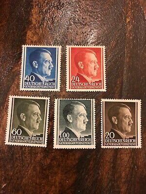#3805 OG 1943 MNH stamp / German occupation / Adolph Hitler / Poland