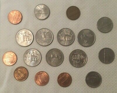 Usa Coin Collection (17 Coins) 1968-2016 John Brown's Fort Wyoming Montana Etc