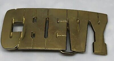 Vintage Belt Buckle Chevy Chevrolet Solid Brass Taiwan #4