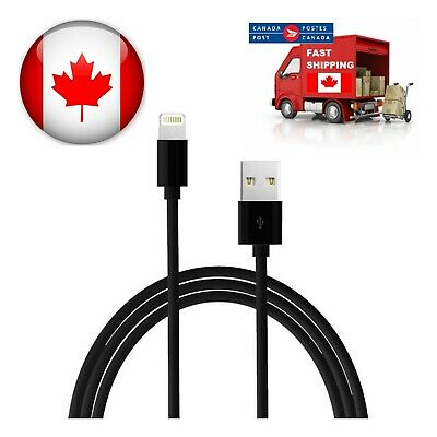 3 FT USB Data Sync Charger Cable for iPad iPhone X Xs Xr 8 8Plus 7 6s 6 5 Black
