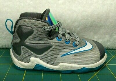864b08b97a5 Nike Lebron 13 XIII Hologram Gray Blue Basketball Shoes Sneakers~Toddler  Size 6C