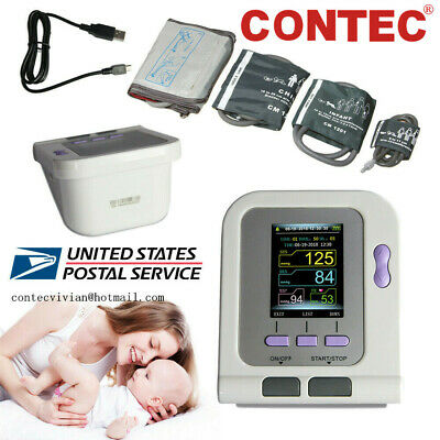 CONTEC08A Digital Blood Pressure Monitor NIBP machine,Adult/Pediatric Cuffs,SPO2