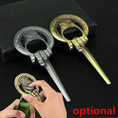 Game Of Thrones Hand Of The King Bar Beer Bottle Opener Metal Alloy gold/Silver
