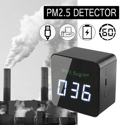 Portable Mini PM2.5 Air Quality Tester Tool LCD Monitor Home Office Car