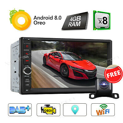 Android 8.0 Double 2Din 7in HD Octa Core GPS WiFi Car Stereo MP5 Player FM Radio