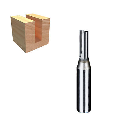 "1/2"" x 6mm x 30mm TCT double flute straight router bit tool"