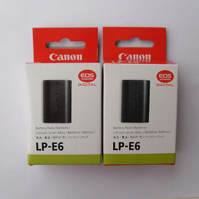 2x LP-E6 Original Battery Canon EOS 5D 6D 7D 60D 60Da Mark II III Camera Grip