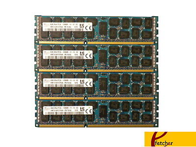 32GB (4X8GB) DDR3 1600 PC3-12800 ECC REGISTERER 240-PIN Memory for Servers & WS