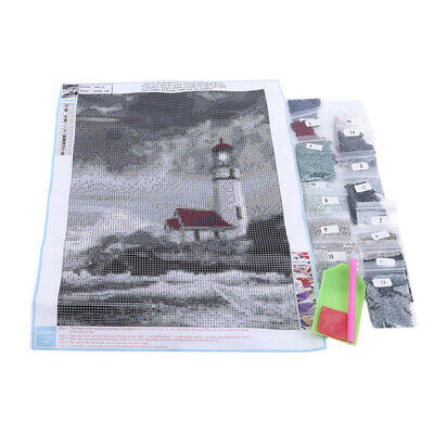 Diamond Painting Drill Rhinestone Embroidery Set Lighthouse Wall Decorative SW
