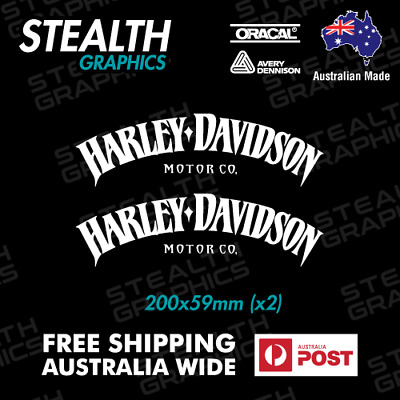 2X Harley Davidson Stickers Tank Decals Sportster V Rod Roadster Iron Dyna 883