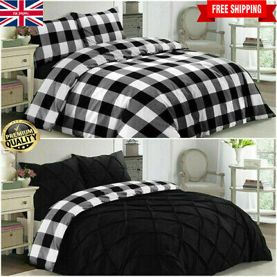 Pintuck Duvet Set 100% Percale Cotton Quilt Cover Single Double Super King Size