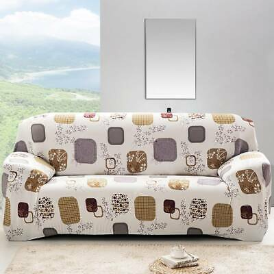1/2/3 Slipcover Couch Easy Stretch Seater Sofa Cover Elastic Home Soft Protector