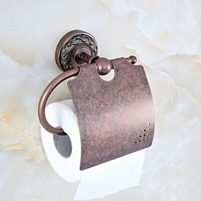Antique Copper Toilet Paper Holder Wall Mounted Bathroom Roll Paper Holder