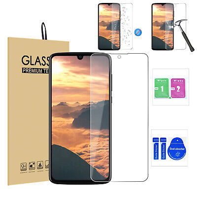 2 Pack Moto Z4 Play Screen Protectors Tempered Glass 2.5D Round Edge/9H Hardness