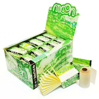 MOON 24 Rolls & Tips Unbleached Rolling ROLL Papers Tobacco paper 44mm ×5 meters
