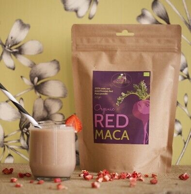 Organic Raw Red Maca Powder High Quality Pure Peruvian Hormone Balancing 500...