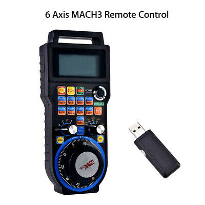 CNC MACH3 6 Axis Electronic Wireless Handwheel Controller Manual Router Remote