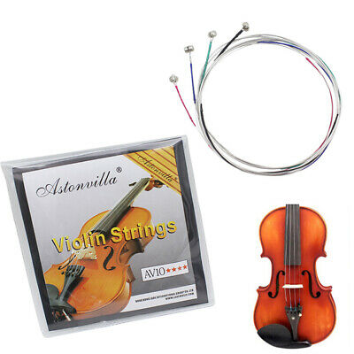 4pcs Violin Strings Steel Core Nickel Silver Wound Exquisite Instrument Parts