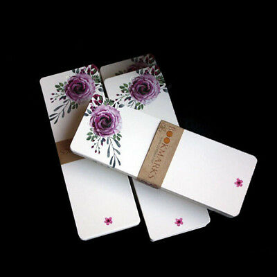 40pcs/set Book Mark Bookmark Floral Paper Stationery Clip School New Gift SW