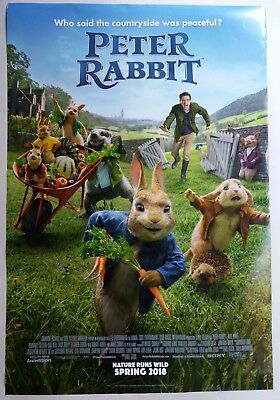 Peter Rabbit 2018 Original Movie Poster Double Sided D/S 27X40 Inch # 2