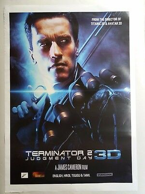 Terminator 2 Judgment Day Original Double Sided Us Movie Poster Ds /27X40 #2