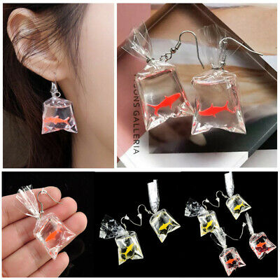 733a12763c10b CREATIVE RESIN GOLDFISH Fish Bag Drop Dangle Hook Earrings Women ...